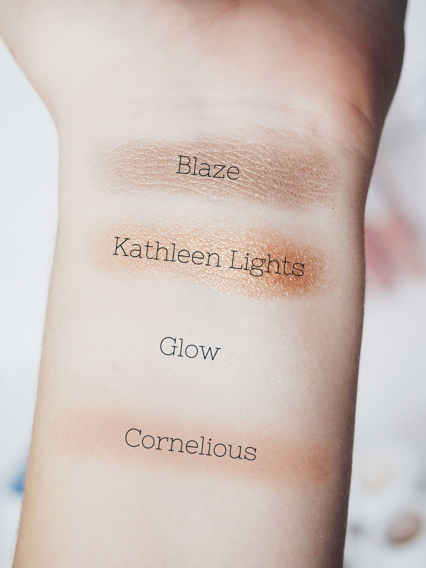 ColourPop Where the Light is swatches