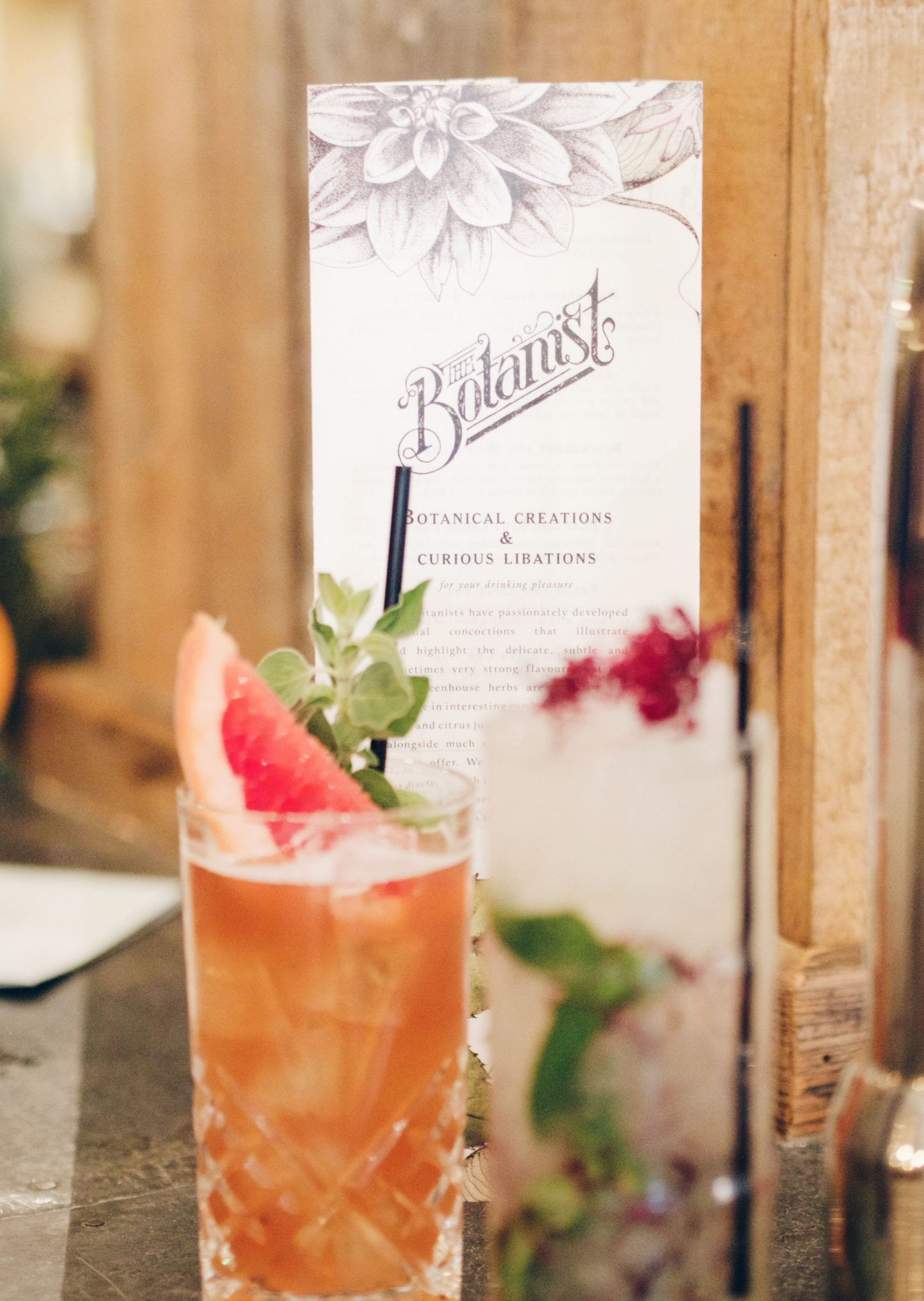 The Botanist cocktails
