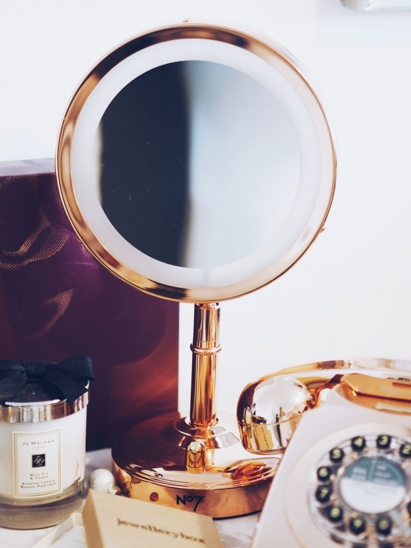 no7 rose gold illuminating mirror