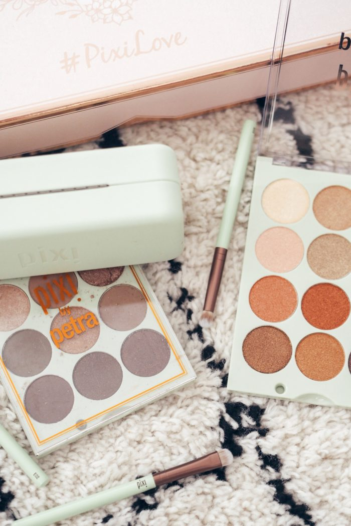 Trying Pixi eyeshadow palettes for the first time