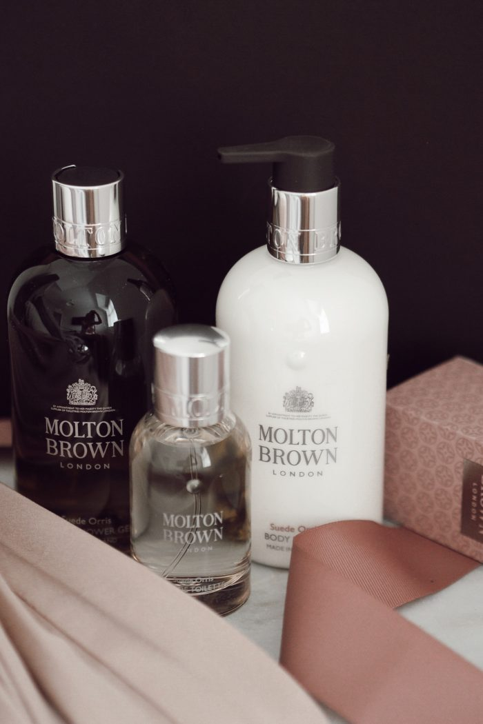 The new Molton Brown Suede Orris range
