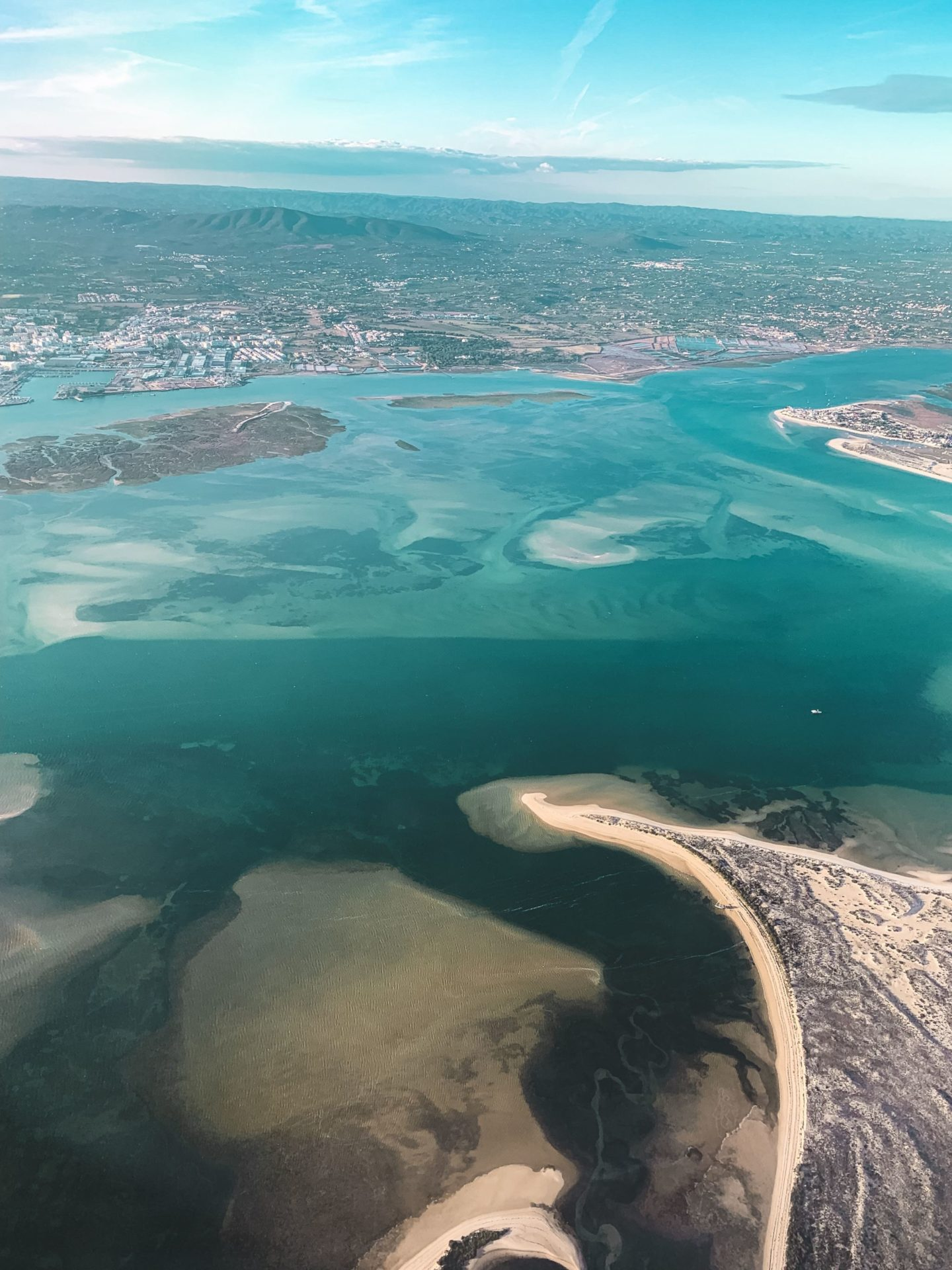 view of Alvor from the plane